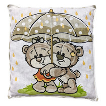 Nahřívací polštářek s třešňovými peckami Prší