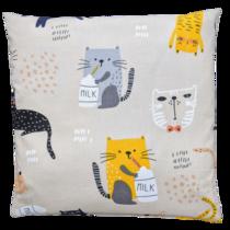 Pohankový polštářek Cats and milk 30x30 cm