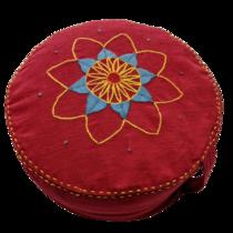 Meditační sedák Červený květ