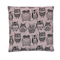 Nahřívací polštářek s třešňovými peckami Růžové sovičky